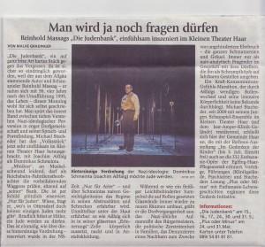 Münchner Merkur - Die Judenbank